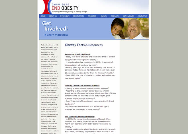 obesity charity screenshot