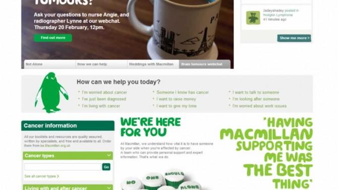 Macmillan cancer screenshot