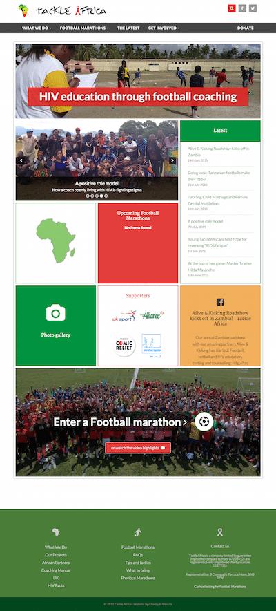 Tackle Africa website