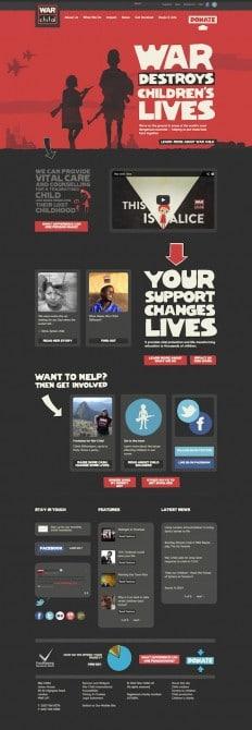 War Child website design