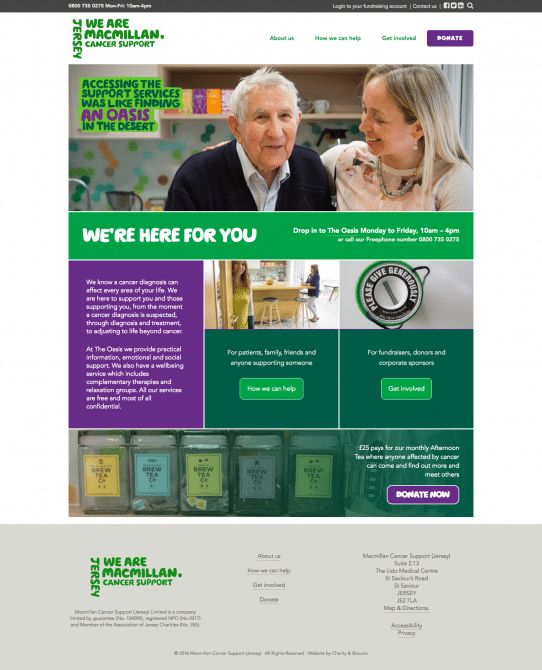 Macmillan Jersey website