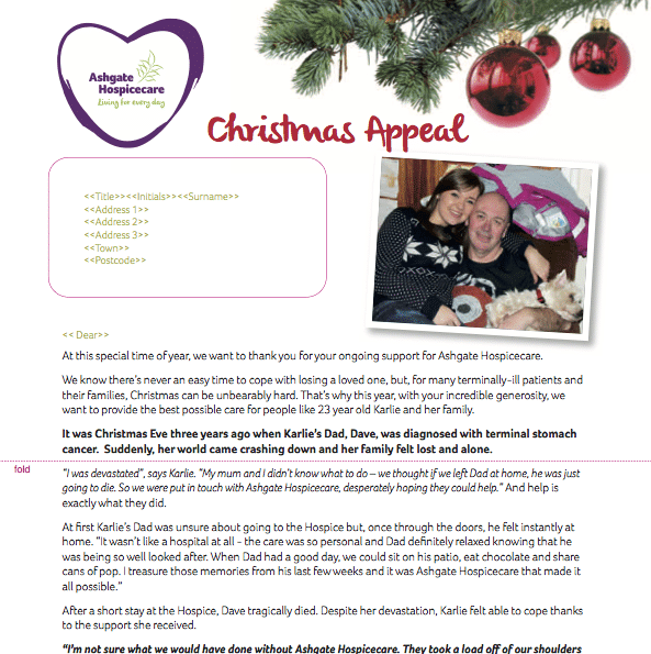 Ashgate Christmas appeal 2016